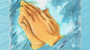Hands held together in prayer.