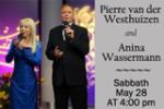 Pierre Van Der Westhuizen and Anina Wassermann concert at Sacramento Central, Sabbath May 28, 2016 at 4:00 PM