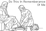 """Jesus Washes Feet Of Disciples. """"Do this in rememberance of me."""""""