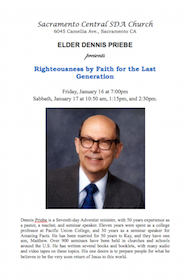 Dennis Priebe to Hold Important Seminar on Righteousness by Faith