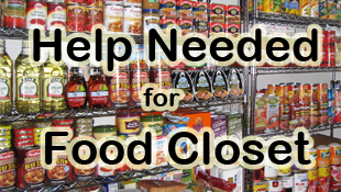 Help Needed for Food Closet