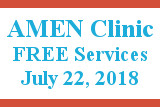 Amen Clinic, Free services, July 22, 2018