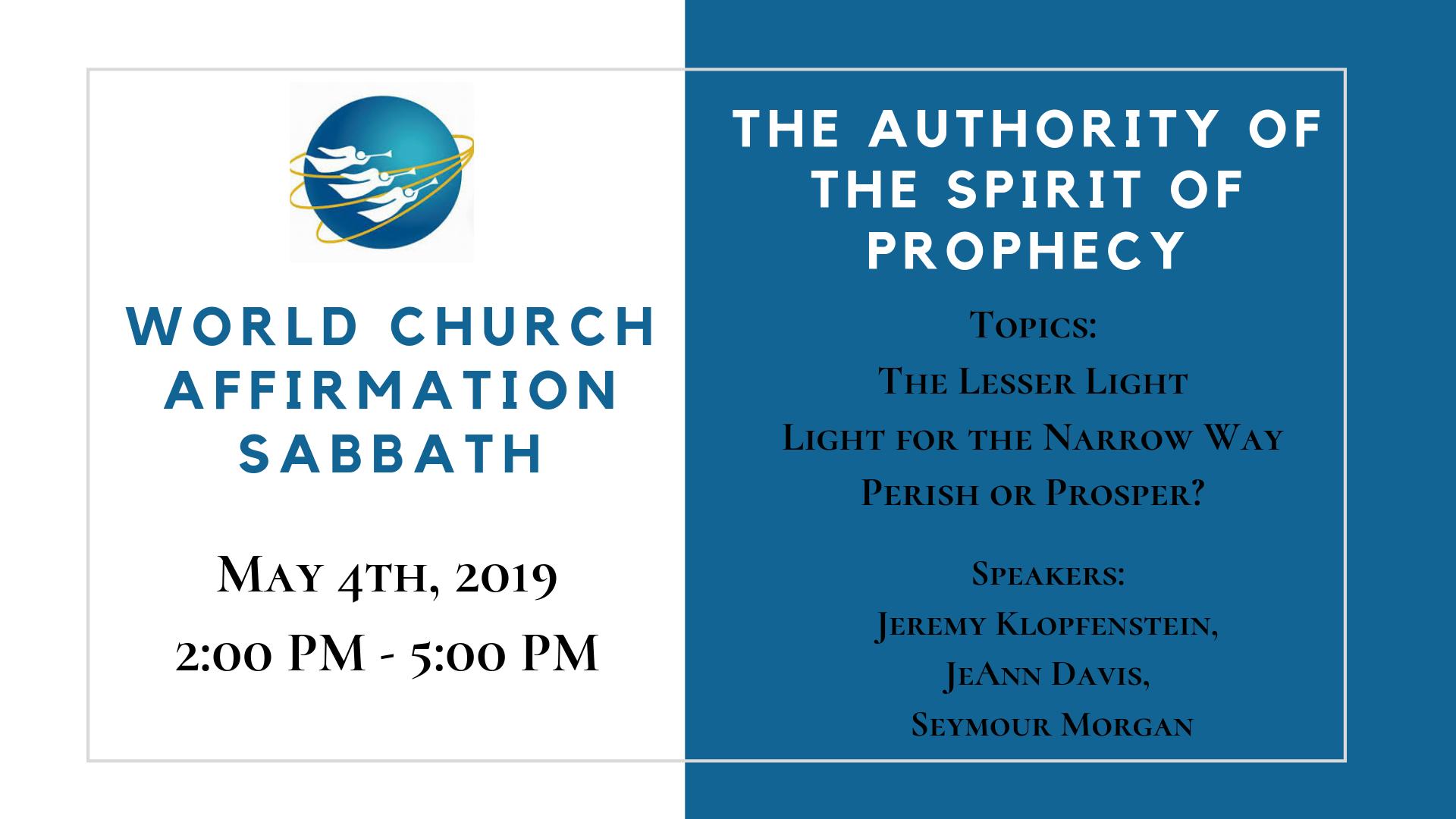 World Church Affirmation Sabbath (WCAS)