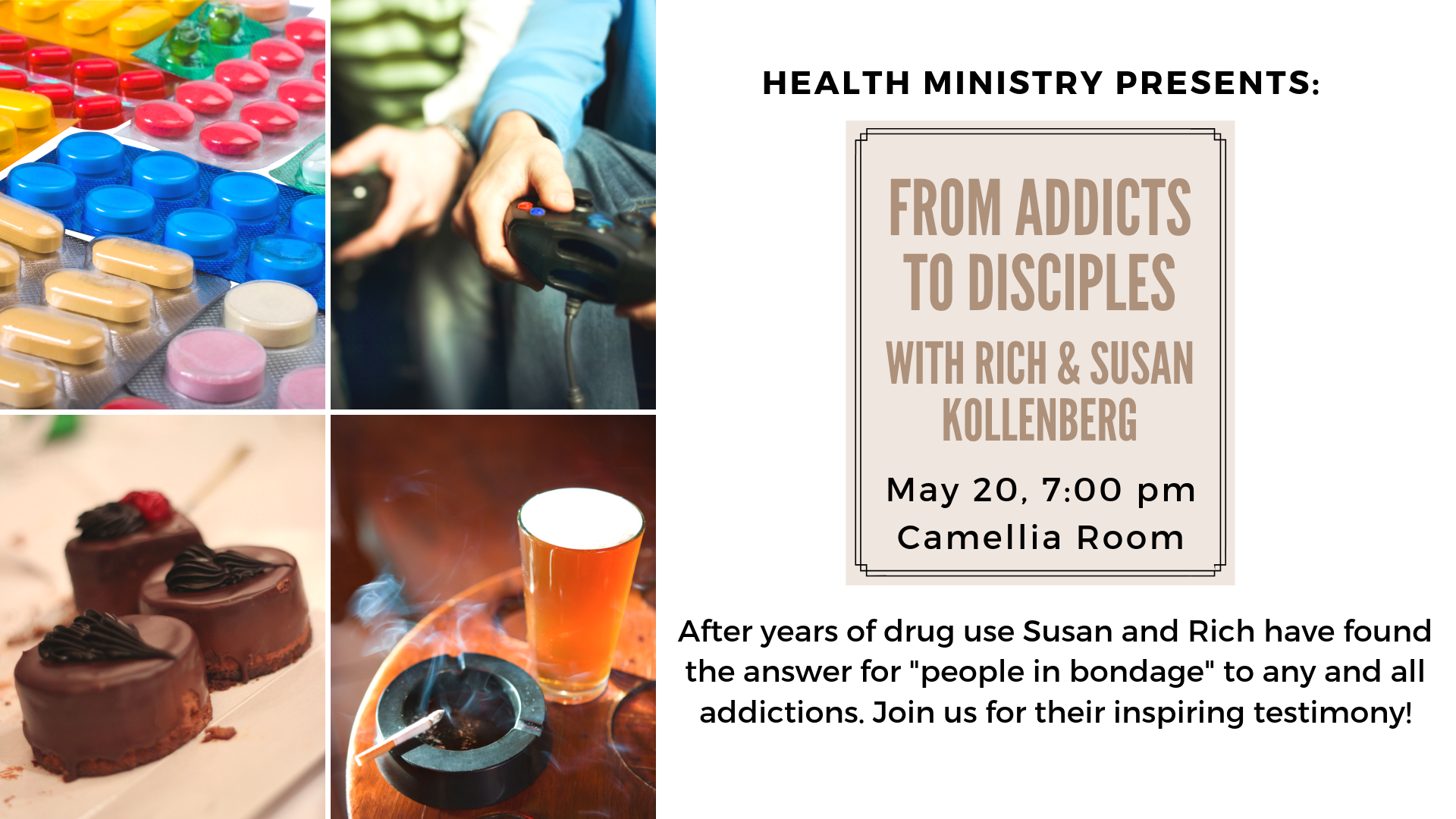 Healthy Plate Presents: From Addicts to Disciples
