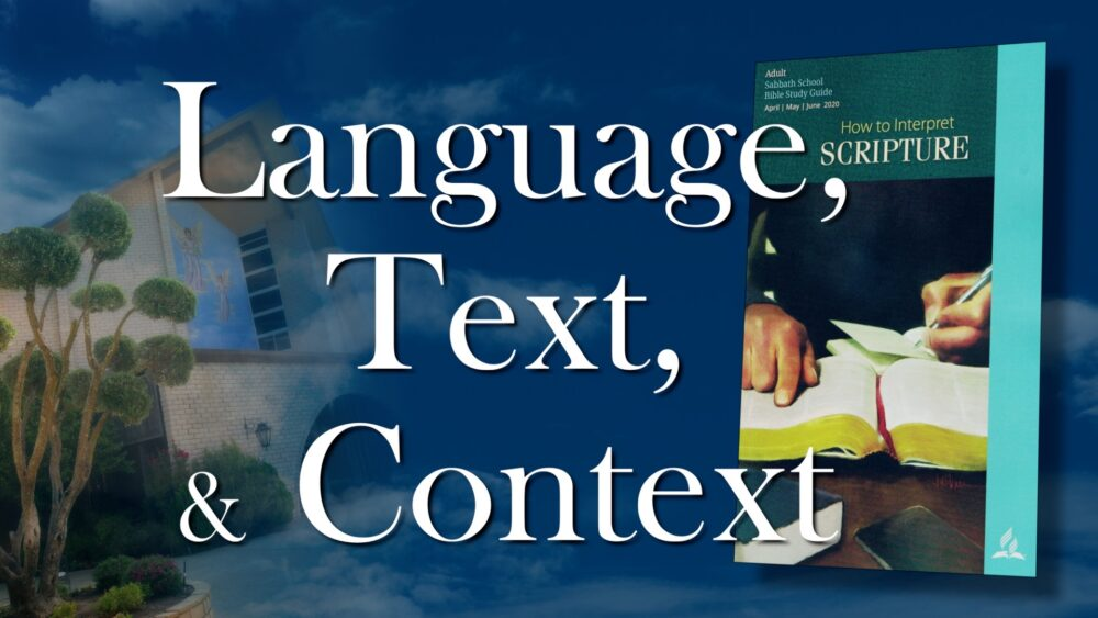 The Scriptures: Language, Text & Context (7 of 13) Image