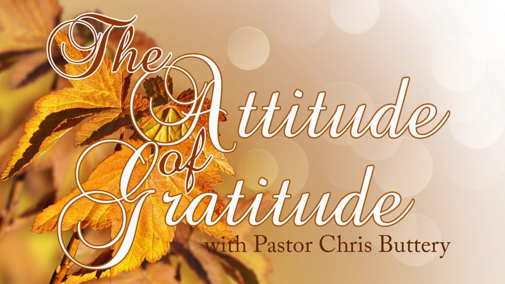 The Attitude Of Gratitude Image